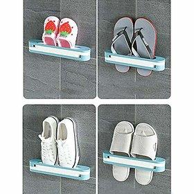 JonPrix 3 in 1 Folding Holder Shoes Hanger Wall Mounted Shoe and Bathroom Towel Organizer Rack (Multicolor)