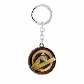 RaJ Avengers A Logo Metal Keychain and Keyring  Key Ring for Car Bike Home Keys  Key Chain for Kids Men Women Boys Gi