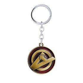 RaJ Avengers A Logo Metal Keychain and Keyring  Key Ring for Car Bike Home Keys  Key Chain for Kids Men Women Boys Gir