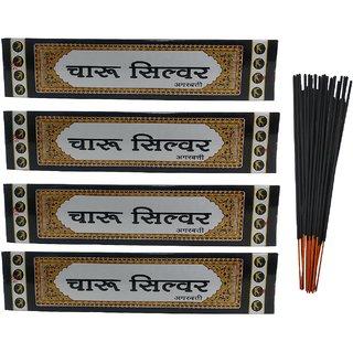 Stylewell Charu Silver (Pack of 4) Scented Incense Sticks Agarbattis(20 Stick Per Box)