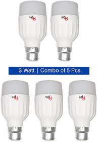 HomePro Bright Light LED Bulbs 3 Watt  (Pack of 5)