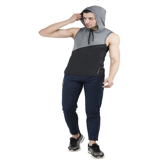 aarmy fit Men's Hoodie Vest Polyester (Multicolor)