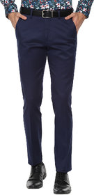 Haoser formal pants slim fit for men Navy Blue | office pant for men