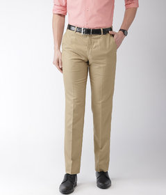 Haoser Men's Formal Pant For office and Formal Events , beige formal trousers men