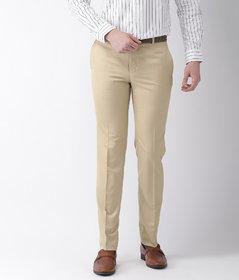 Haoser beige colour formal pants for men , formal Trouser for men Slim Fit for office wear,