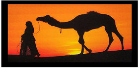 Village Sunrise Sparkle Print Sticker Poster Without Frame (20 X 40 Inches) Wall Art Dcor