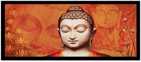 Buddha Sparkle Print Sticker Poster Without Frame (20 X 40 Inches) Wall Art Dcor