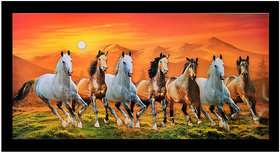 7 Vastu Horses Sparkle Print Sticker Poster Without Frame (20 X 40 Inches) Wall Art Dcor