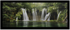 Vastu Waterfall Sparkle Print Sticker Poster Without Frame (20 X 40 Inches) Wall Art Dcor