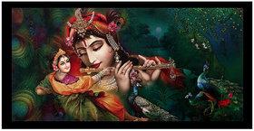 Modern Art Radha Krishna Sparkle Print Sticker Poster Without Frame (20 X 40 Inches) Wall Art Dcor
