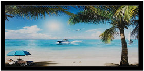 Beach Beauty Sparkle Print Sticker Poster Without Frame (20 X 40 Inches) Wall Art Dcor