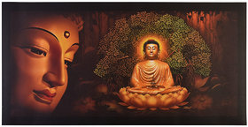 Beautiful Buddha Sparkle Print Sticker Poster Without Frame (20 X 40 Inches) Wall Art Dcor