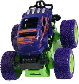 Arooman Pull Back  Monster Truck with Rubber Wheels for Kids Toy Spring Shock Suspension System