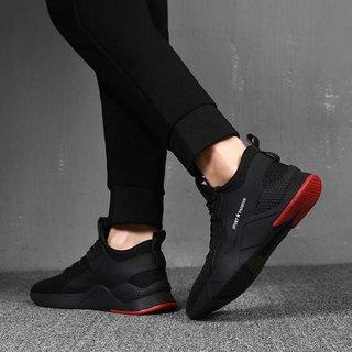 Buy Swazile Black Running Shoes For Men