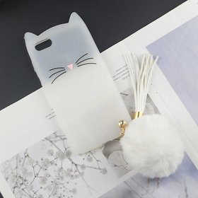 GADGETWORLD Luxury Cute Cat Soft Silicone Mobile Phone Cases Cover for Honor 7S  -White