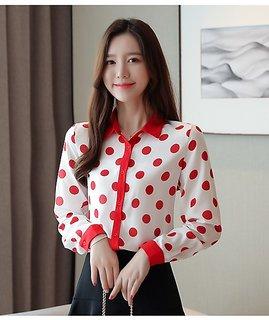 Raabta RWT-01013 White Shirt With Red Dot Shirt
