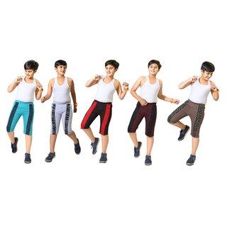 Kavin's Boys Regular Fit Cotton Three-Fourth Pants - Cool