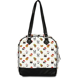 BABES & BABAS Women's Handbag Stylish Casual Canvas & Faux Leather Carry Purse