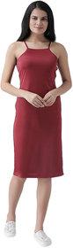 Texco Women Maroon Sheath Dress