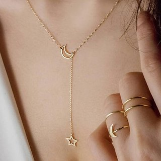 Imported Gold Plated Fashion Necklace Designer Stylish Sparking Stones Pendant Annyversary Gift for Women and Girls