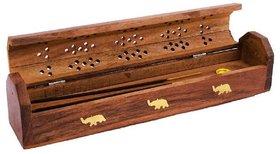 PRODUCTMINE Handcrafted WoodenSheesham WoodIncense Stick Holder Agarbatti Stand (Brown)