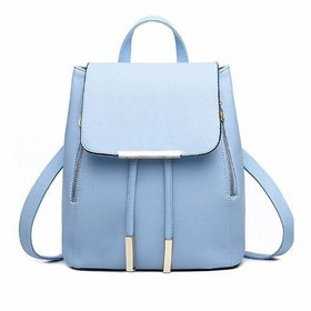 Leather Retail Girl's Canvas Attractive College Bag (Blue)