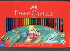 Faber Castell 48 Water Colour Pencils Sketch Set ( Set Of 48 )
