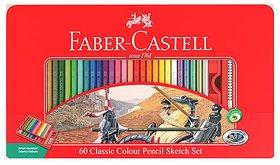 Faber Castell 60 Classic Water Colour Pencils Sketch Set ( Set Of 60 )