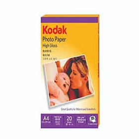 KODAK PHOTO PAPER  HIGH GLOSS A4 ,20 SHEETS , 180 G/M,230 MICRONS