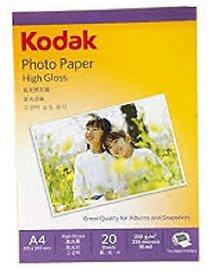 JUST ONE CLICK KODAK PHOTO PAPER A4 210 X 297 MM , 20 SHEETS , 200 G/M