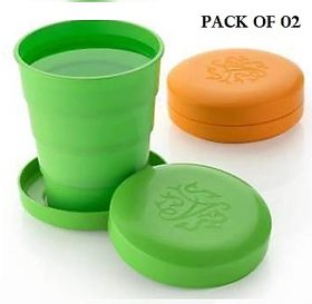 Unbreakable Magic Cup/Folding Glass/Pocket Glass for Traveling/Picnic Glass Set (300 ml, Plastic)