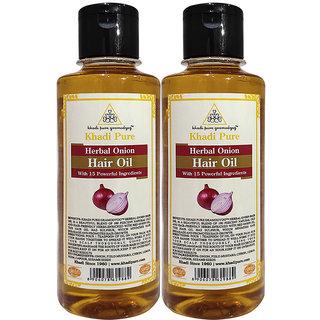 Khadi Pure Herbal Onion Hair Oil - 210ml (Set of 2)