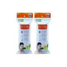 Tulips Cotton Pads 50 in Each Pack of 2