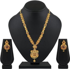Asmitta Tradition One Gram Gold Plated Necklace Set For Women and girls