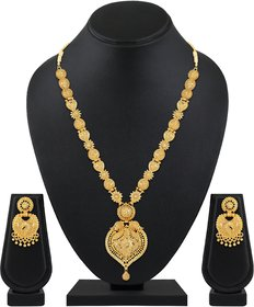 Asmitta One Gram Gold plated Premium Quality Long Necklace set for women