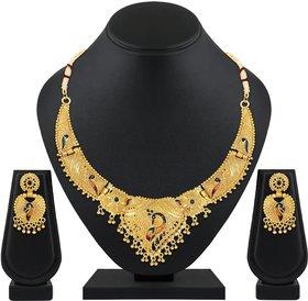 Asmitta Designer One Gram Gold Plated choker Necklace set for women