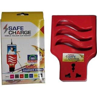 ZAPTOS  USB Mobile Stand / Charging Wall Stand /(NRML SKT) Mobile Holder