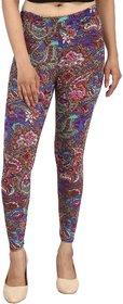 Nitein Women's Printed Ankle Length Legging Multi-Color