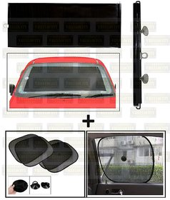 Universal Car Window Sunshades with Vacuum Cups (Set of 4, Black)
