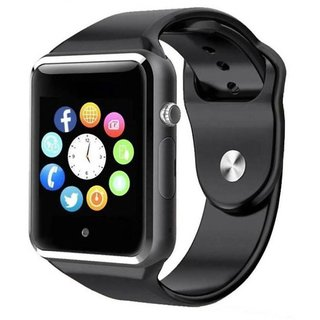 HATHOT A1 4G Touch Screen Smart Watch Phone With Camera And  Call Support For All Android and iOS Devices (Black)