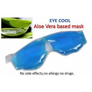 manzari Aloe Vera Gel Eye Mask   Relaxing Gel Eye Mask   eye cool masks for sleeping  Blue Eye cool mask