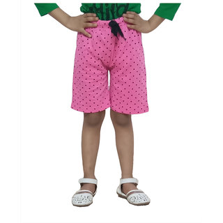 IndiWeaves Girls Cotton Printed Shorts(Pack of 1)