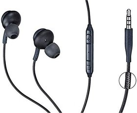 HATHOT AKG Stereo Headset/Earphone With Mic  Sound Control For All Samsung Mobiles  Others (Black)