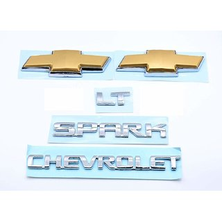 Car Monogram Emblem Decals Logo For Chevrolet Spark Lt
