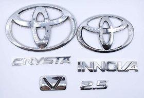 Car Monogram Emblem Decals Logo For Innova Crysta 2.5 V