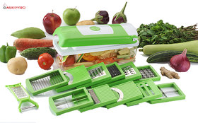 Darkpyro 12 In 1 Plastic Slicer Dicer Chipser - Green