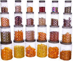 Pack Of 24 Hexagone Plastic Transparent Containers For Kitchen by Darkpyro