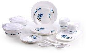 Set Of 32 Pcs Darkpyro White Plastic Dinner