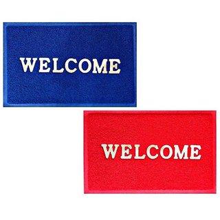 Jainco Set of 2 Anti Skid Welcome Door Mats (36x58cms)