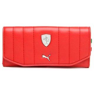 Puma Women Red LS Clutch Wallet